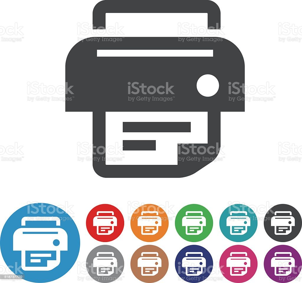 Printer Icons - Graphic Icon Series vector art illustration