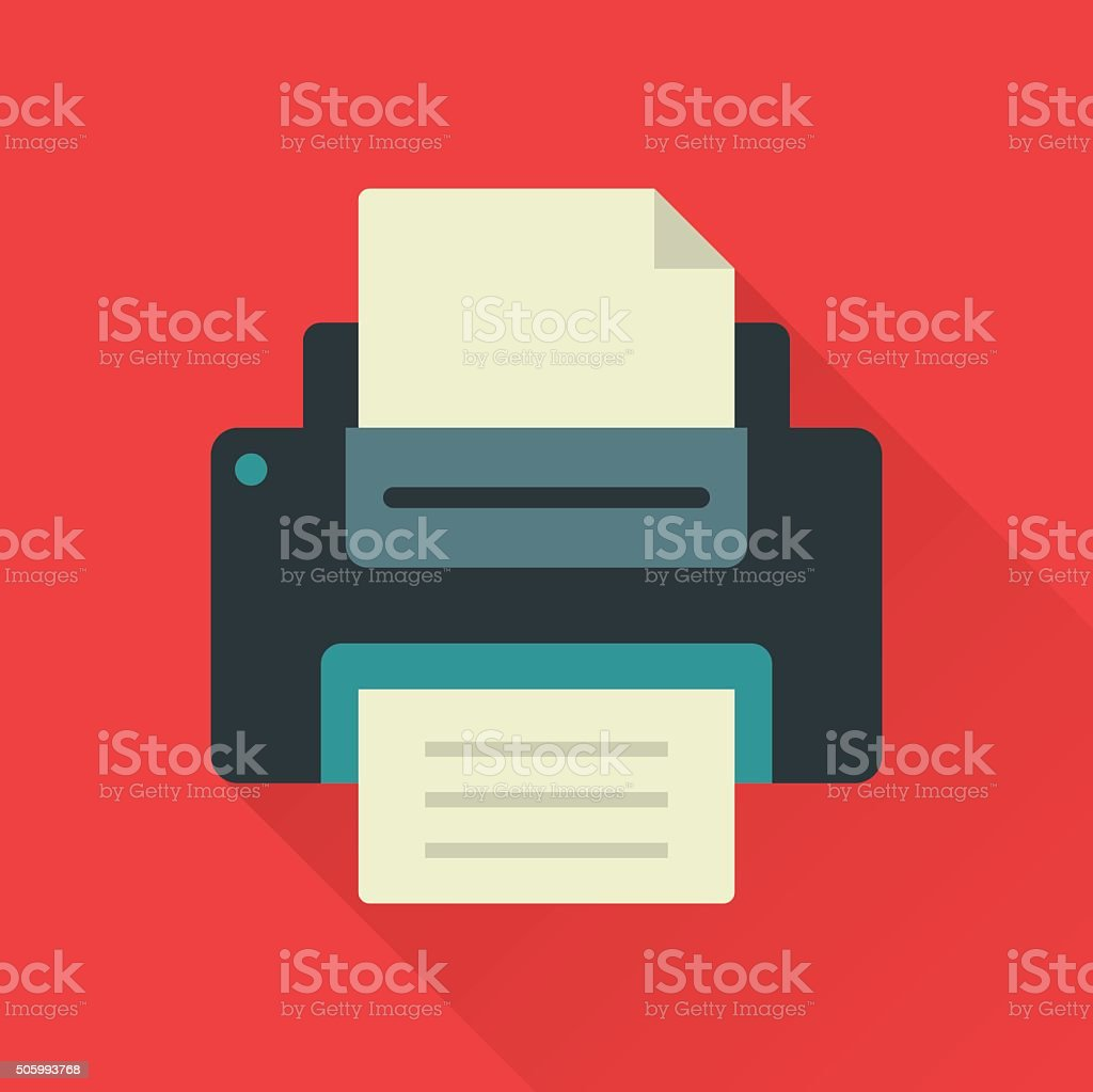 Printer vector art illustration