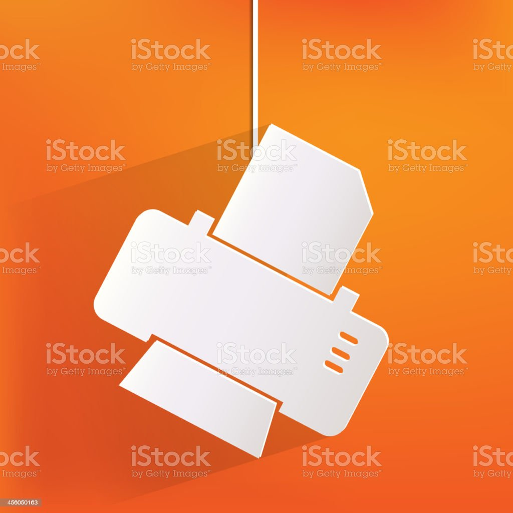 Printer web icon royalty-free stock vector art