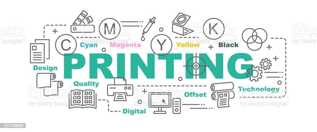 printing vector banner vector art illustration