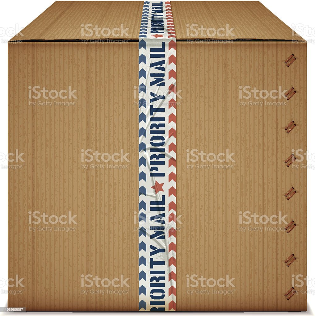 priority mail box royalty-free stock vector art
