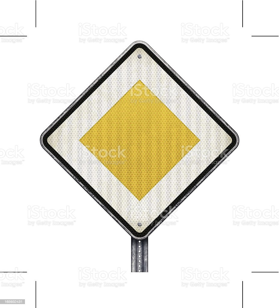 priority road sign royalty-free stock vector art