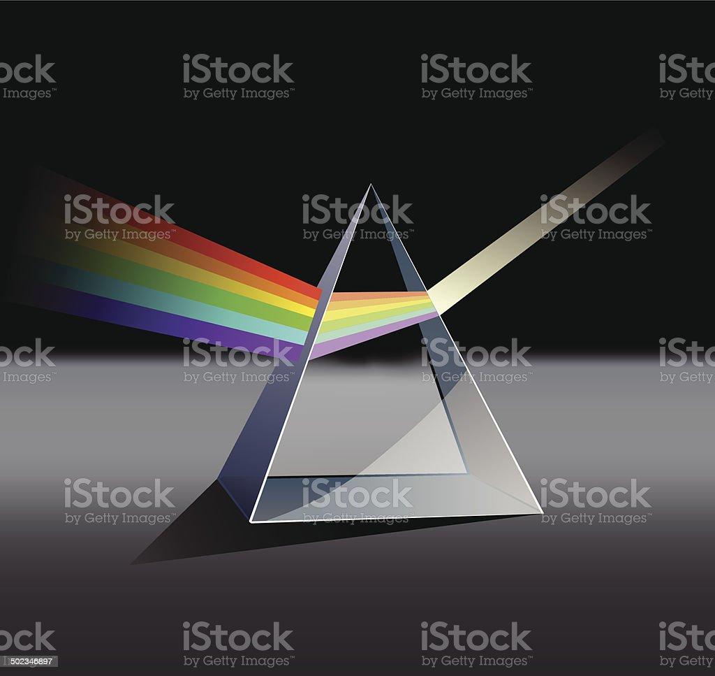 Prism spectrum vector art illustration