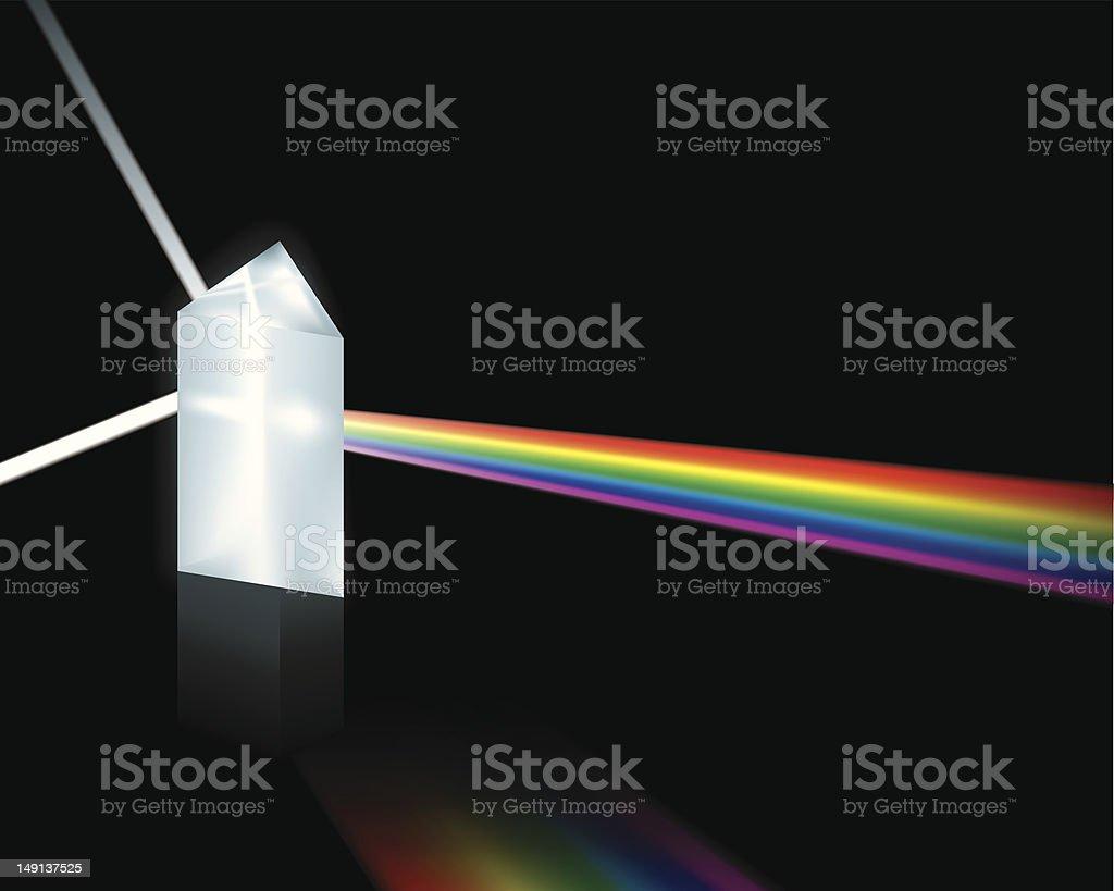 Prism (vector) vector art illustration