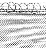 Prison - Barbed Wire & Chain Link Fence