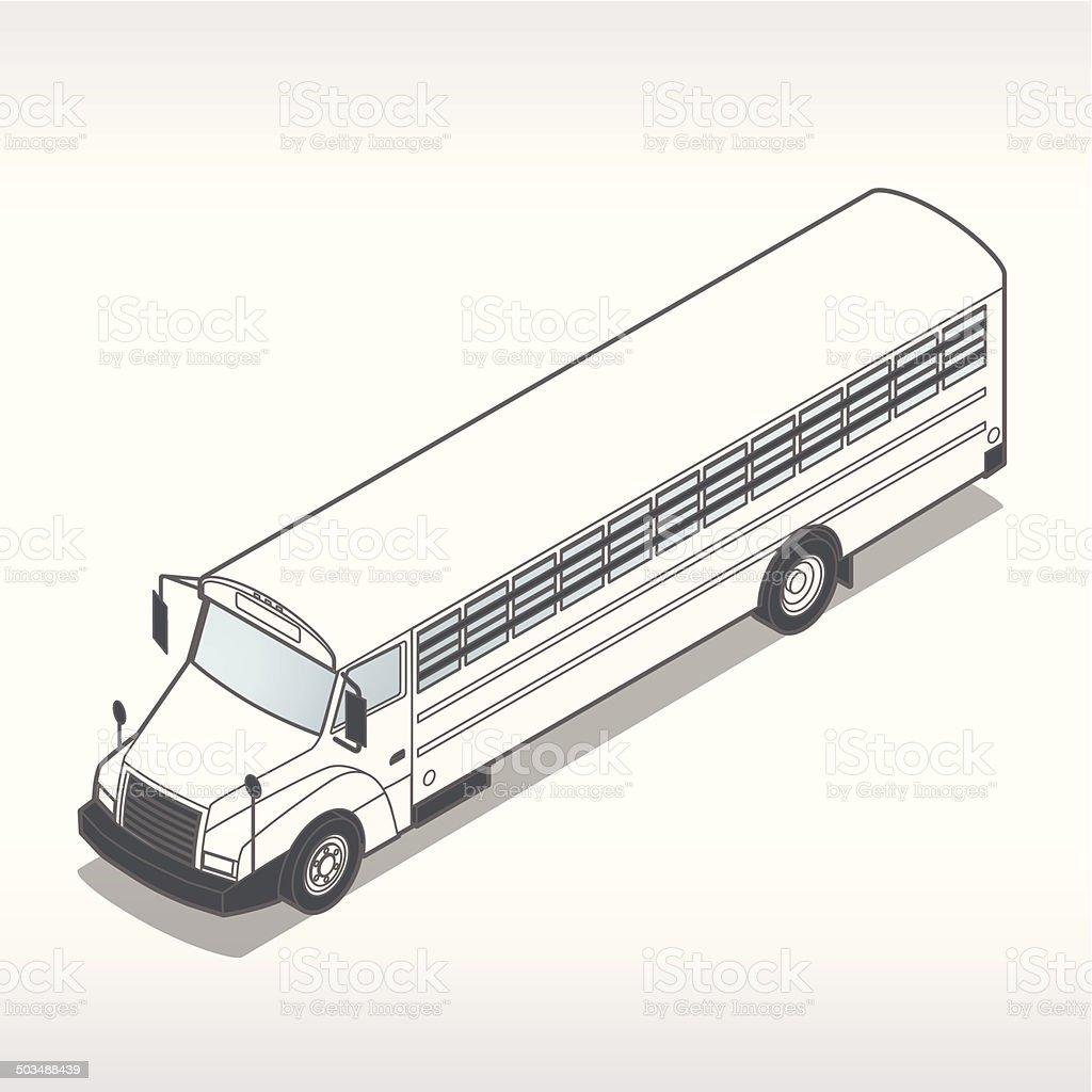 Prison Bus Illustration royalty-free stock vector art