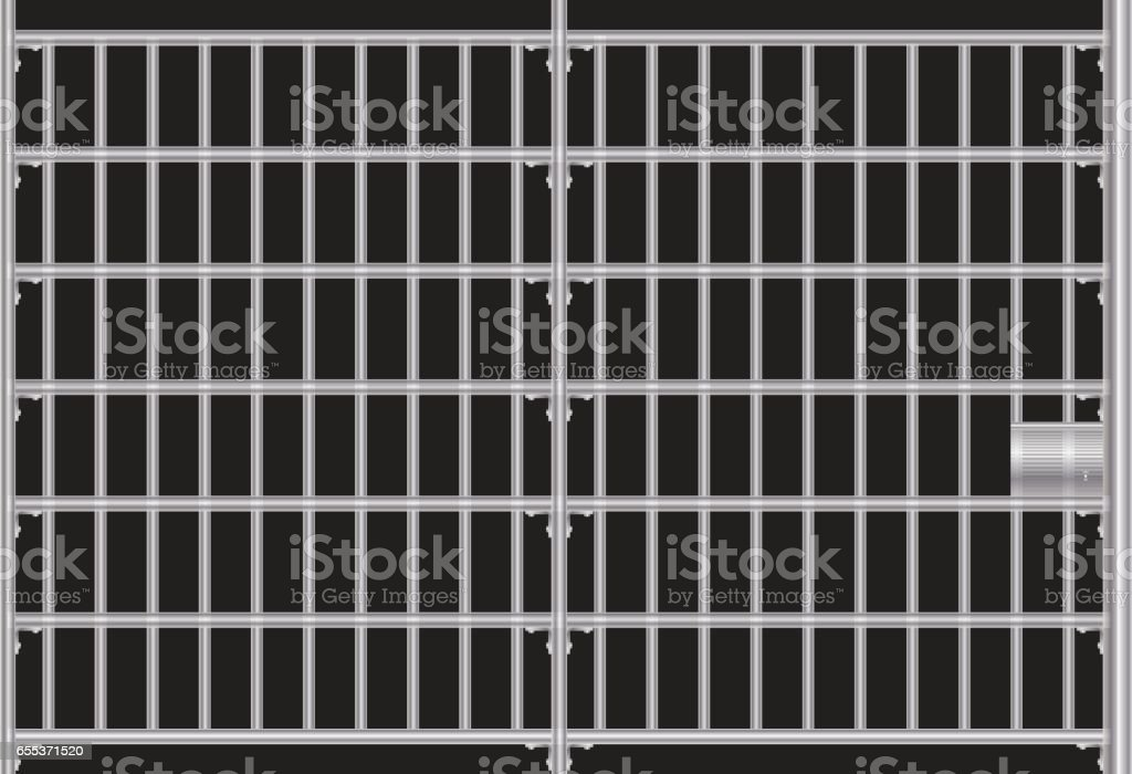 Prison grid vector art illustration