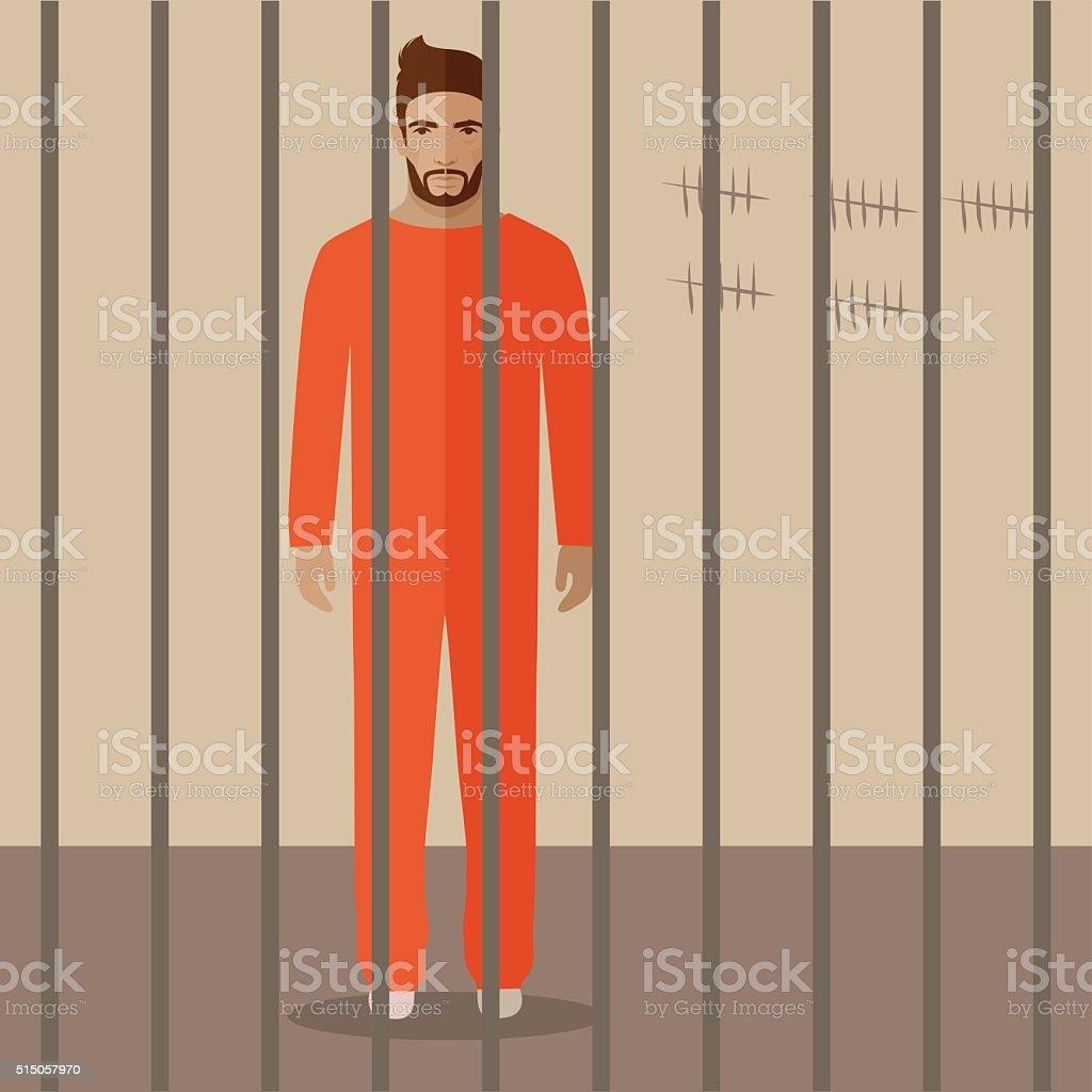 prison vector art illustration