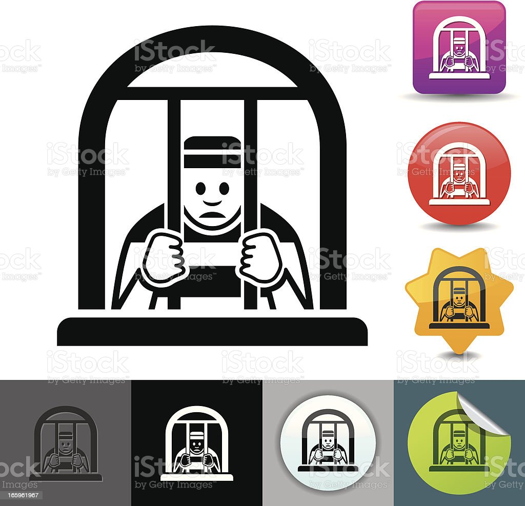 Prisoner icon | solicosi series vector art illustration