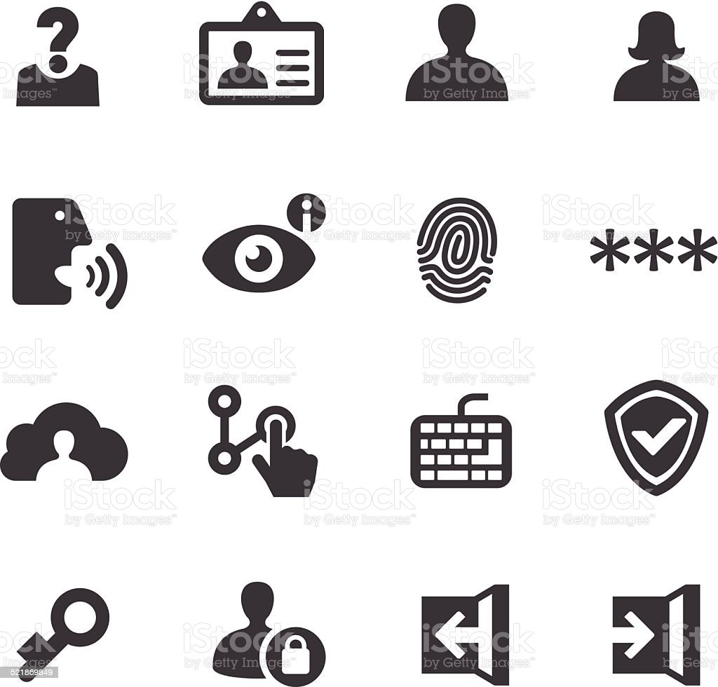Privacy and Identification Icons - Acme Series vector art illustration