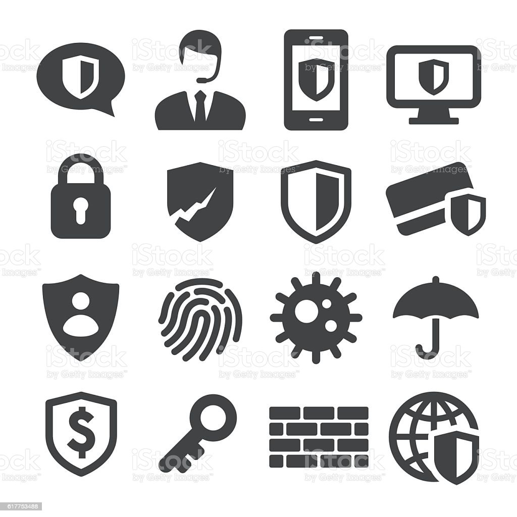 Privacy and Internet Security Icons - Acme Series vector art illustration