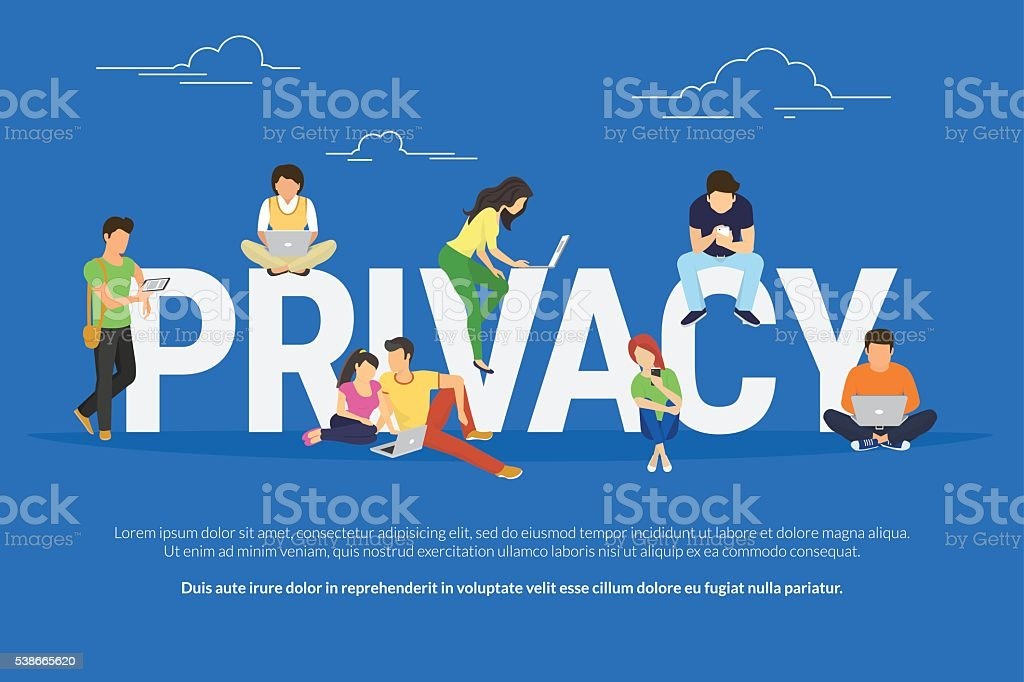 Privacy concept illustration vector art illustration