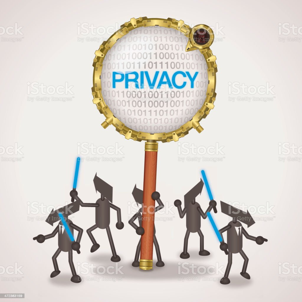 Privacy royalty-free stock vector art