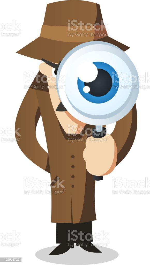 Private eye Detective Investigator vector art illustration