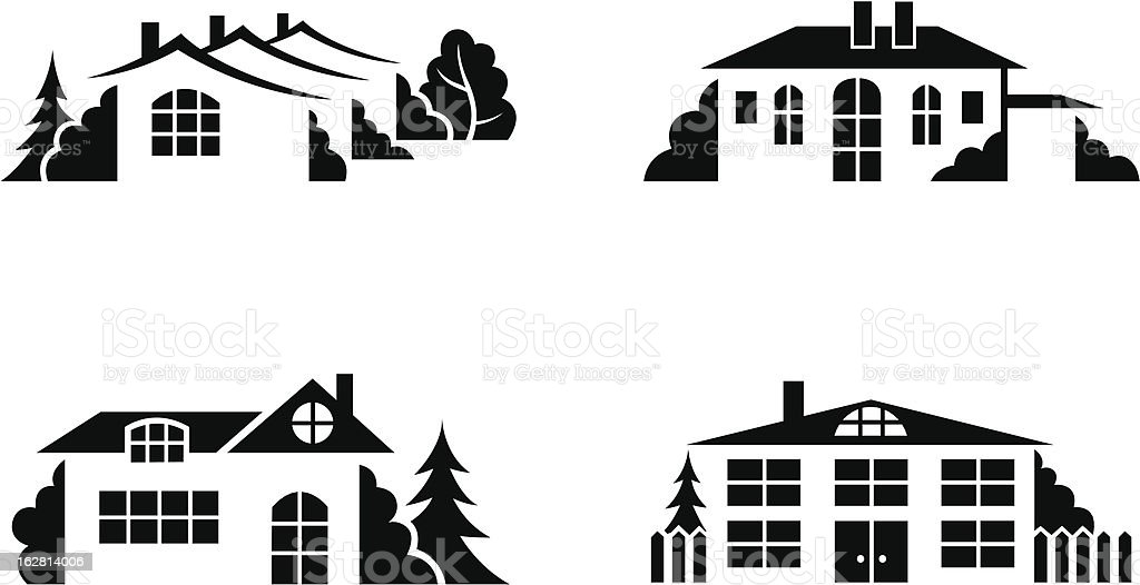 private houses royalty-free stock vector art