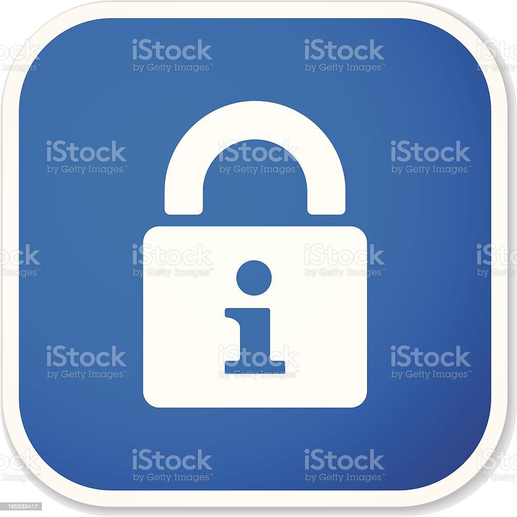 private info sq sticker royalty-free stock vector art
