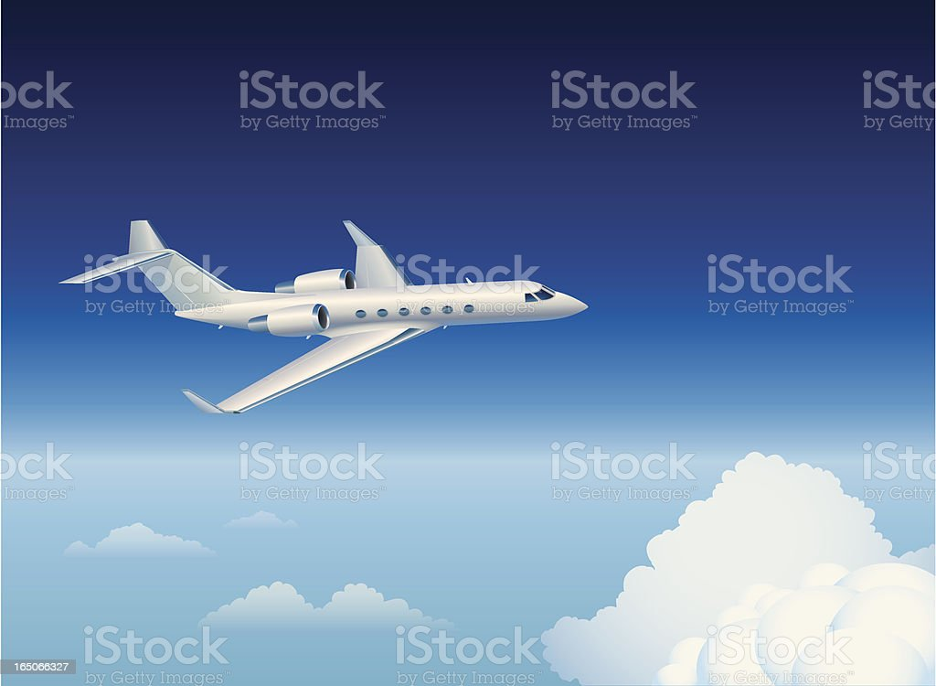 Private Jet royalty-free stock vector art