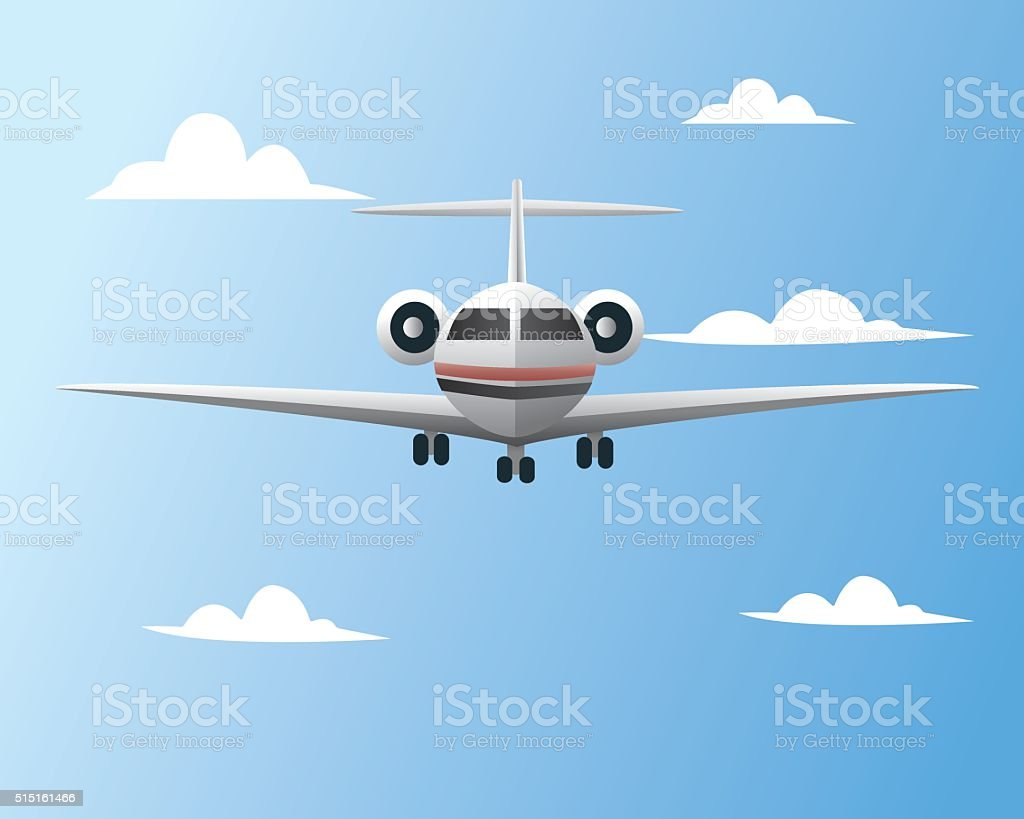 private jet vector art illustration
