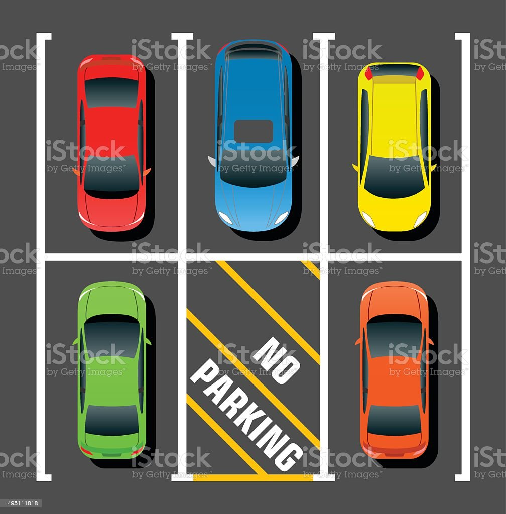 Private Parking vector art illustration