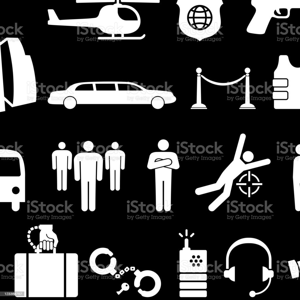 Private security royalty free vector icon set vector art illustration