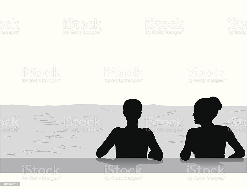 Private Talk Vector Silhouette royalty-free stock vector art