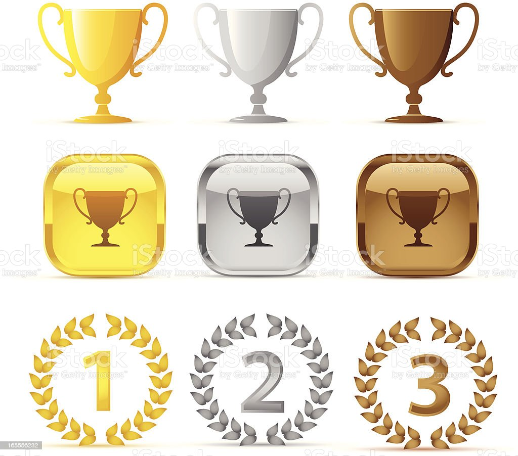 prize icons vector art illustration