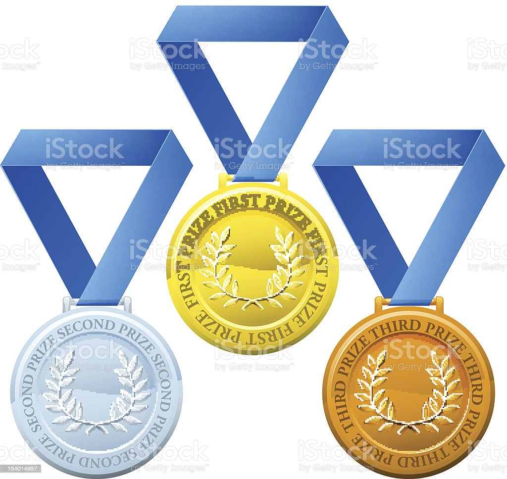 Prize medals royalty-free stock vector art