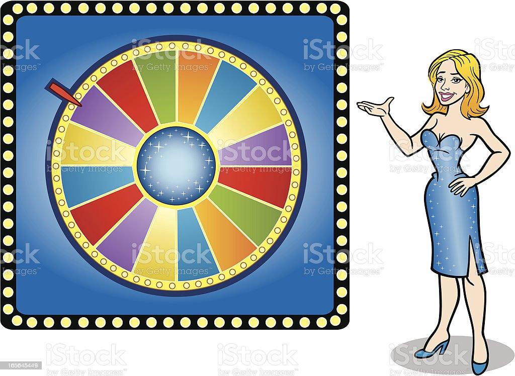 Prize Wheel vector art illustration