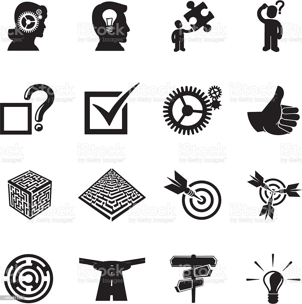 Problem Solving Icons royalty-free stock vector art