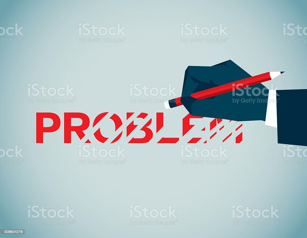 Problem vector art illustration