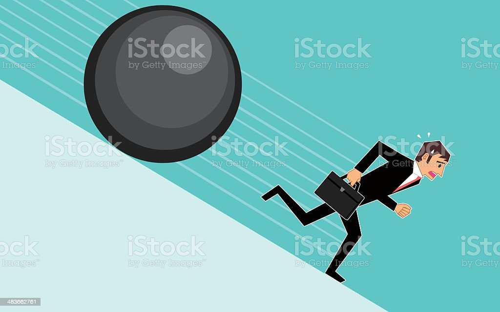 Problems of businessman royalty-free stock vector art