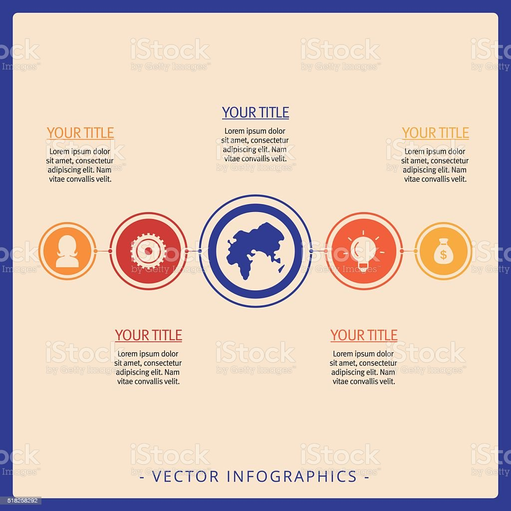 Process Chart Infographic Template stock vector art 518258292 – Data Flow Chart Template