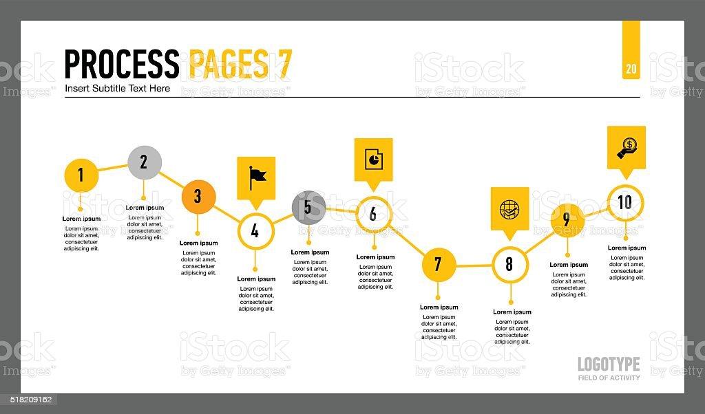 Process chart slide vector art illustration