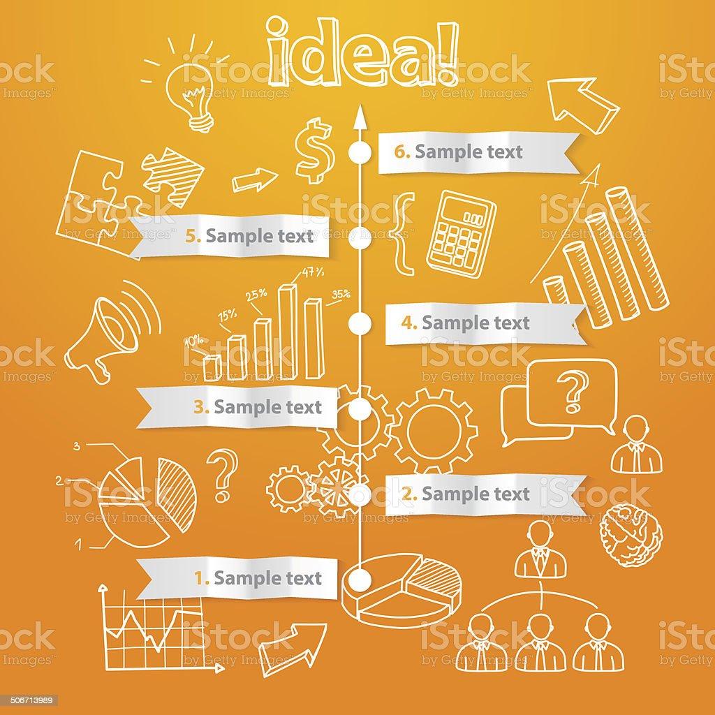 Processo de ideia geração, ilustração em vetor negócios vetor e ilustração royalty-free royalty-free