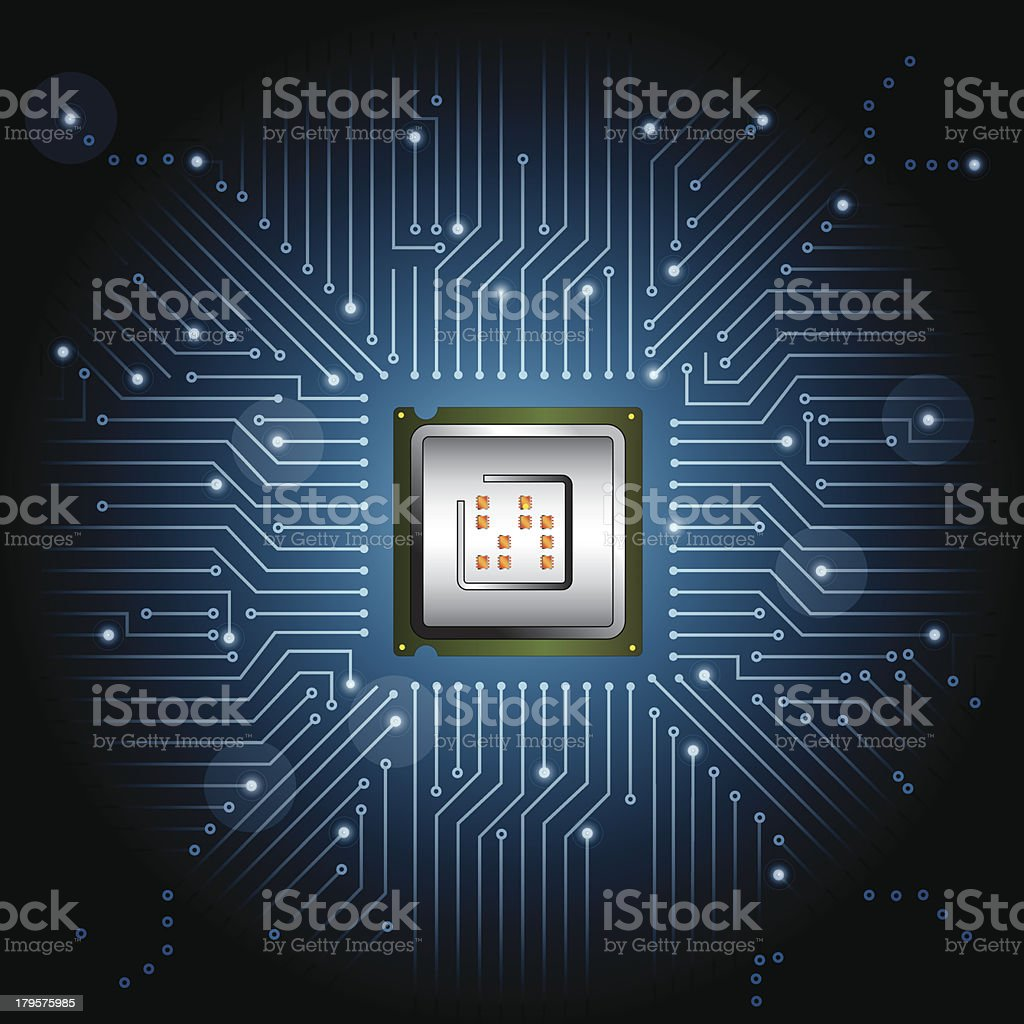 processor royalty-free stock vector art