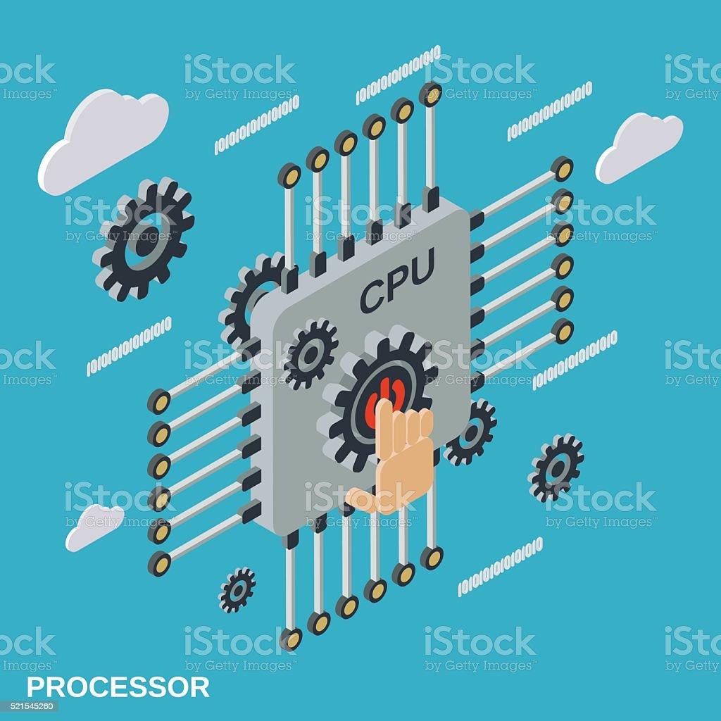 Processor vector illustration vector art illustration