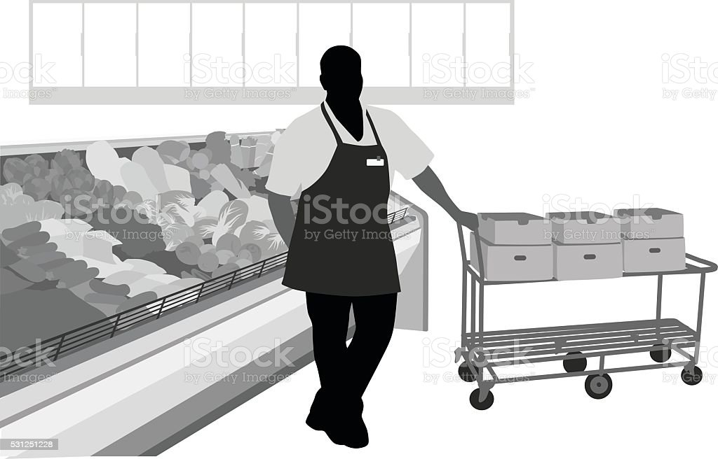 Produce Manager vector art illustration