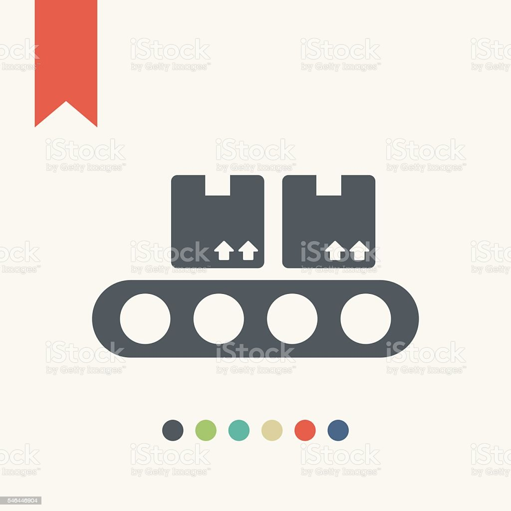 Product fulfillment icon vector art illustration