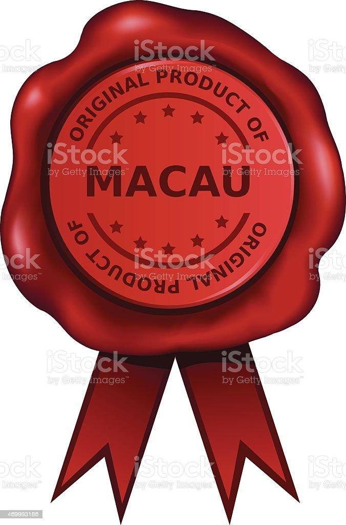 Product Of Macau vector art illustration