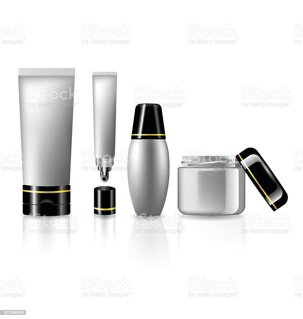 Product set for skin care  collection for beauty cosmetics vector art illustration