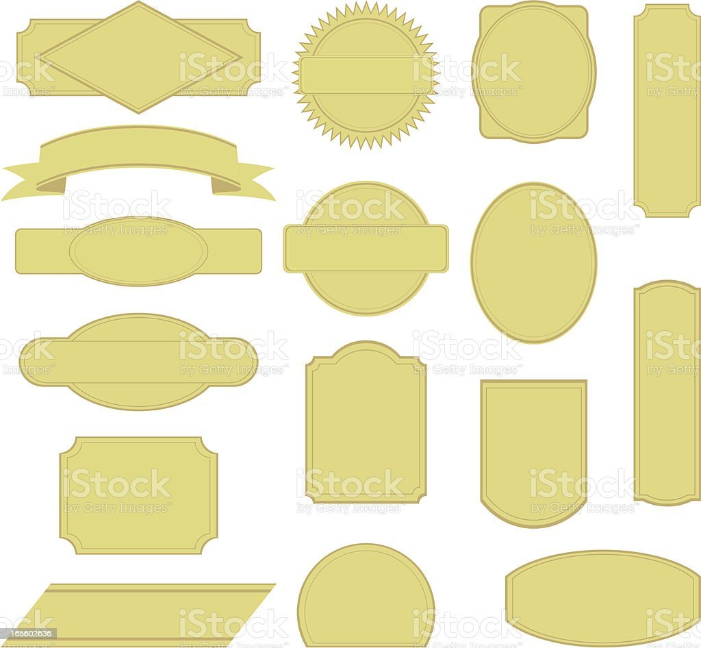 Product Stickers royalty-free stock vector art