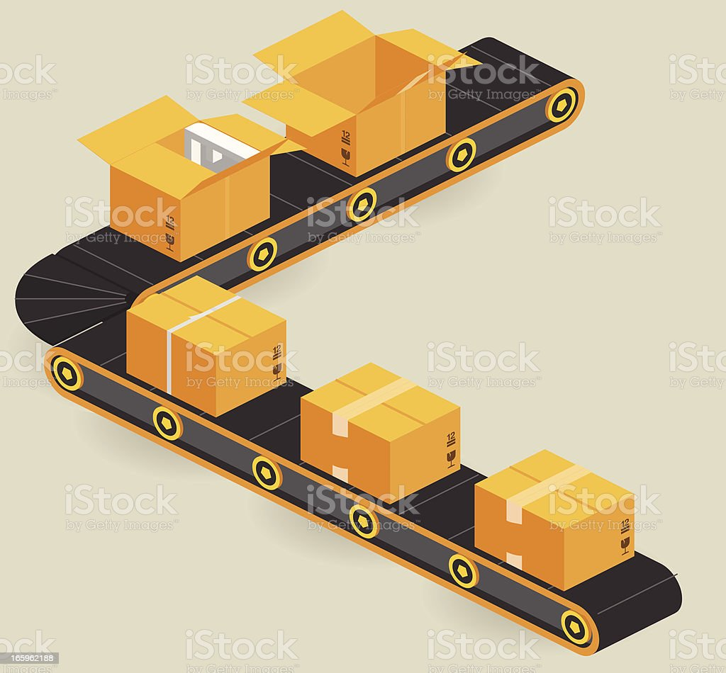 production line vector art illustration