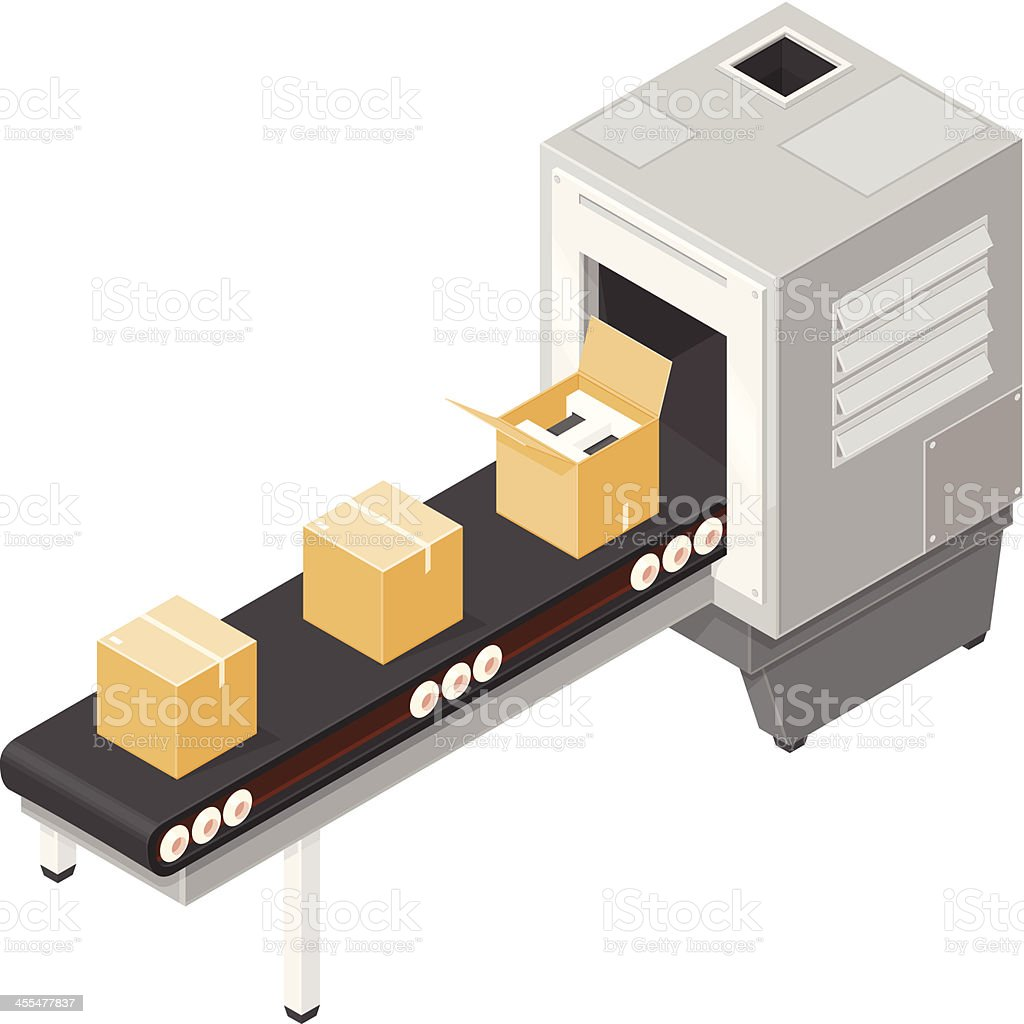 Production line royalty-free stock vector art