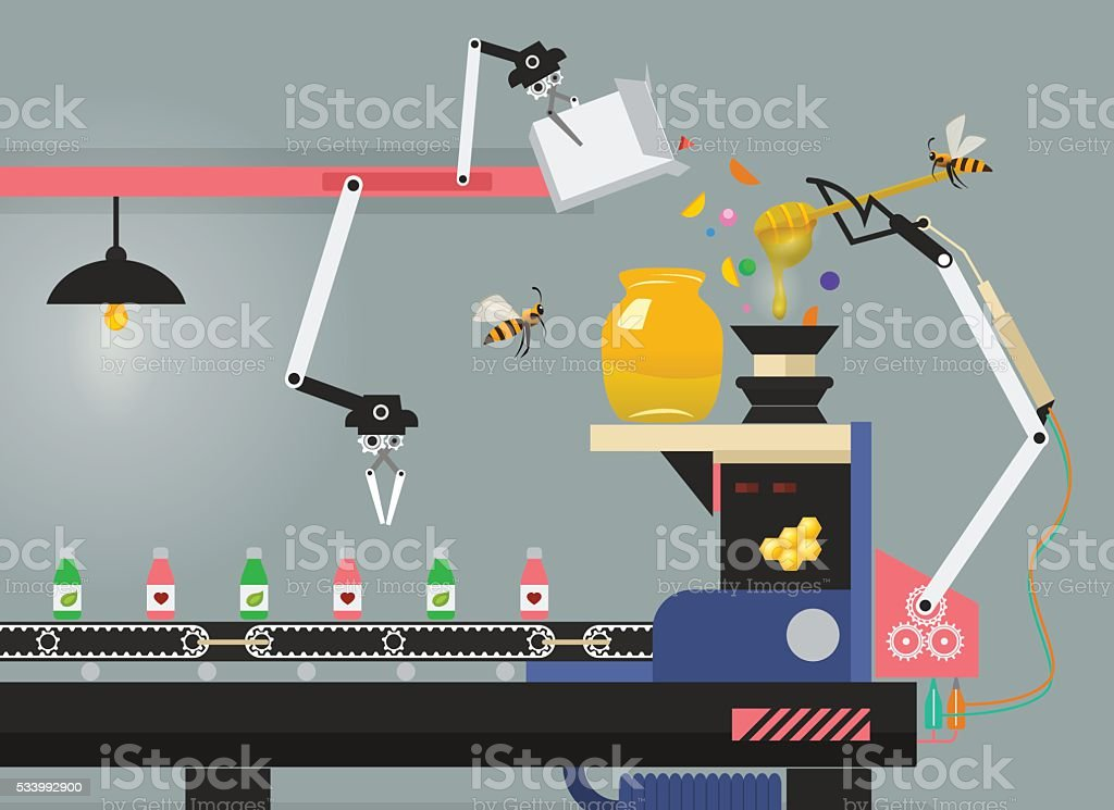 Production of medicine on pharmaceutical factory in vector infographic vector art illustration