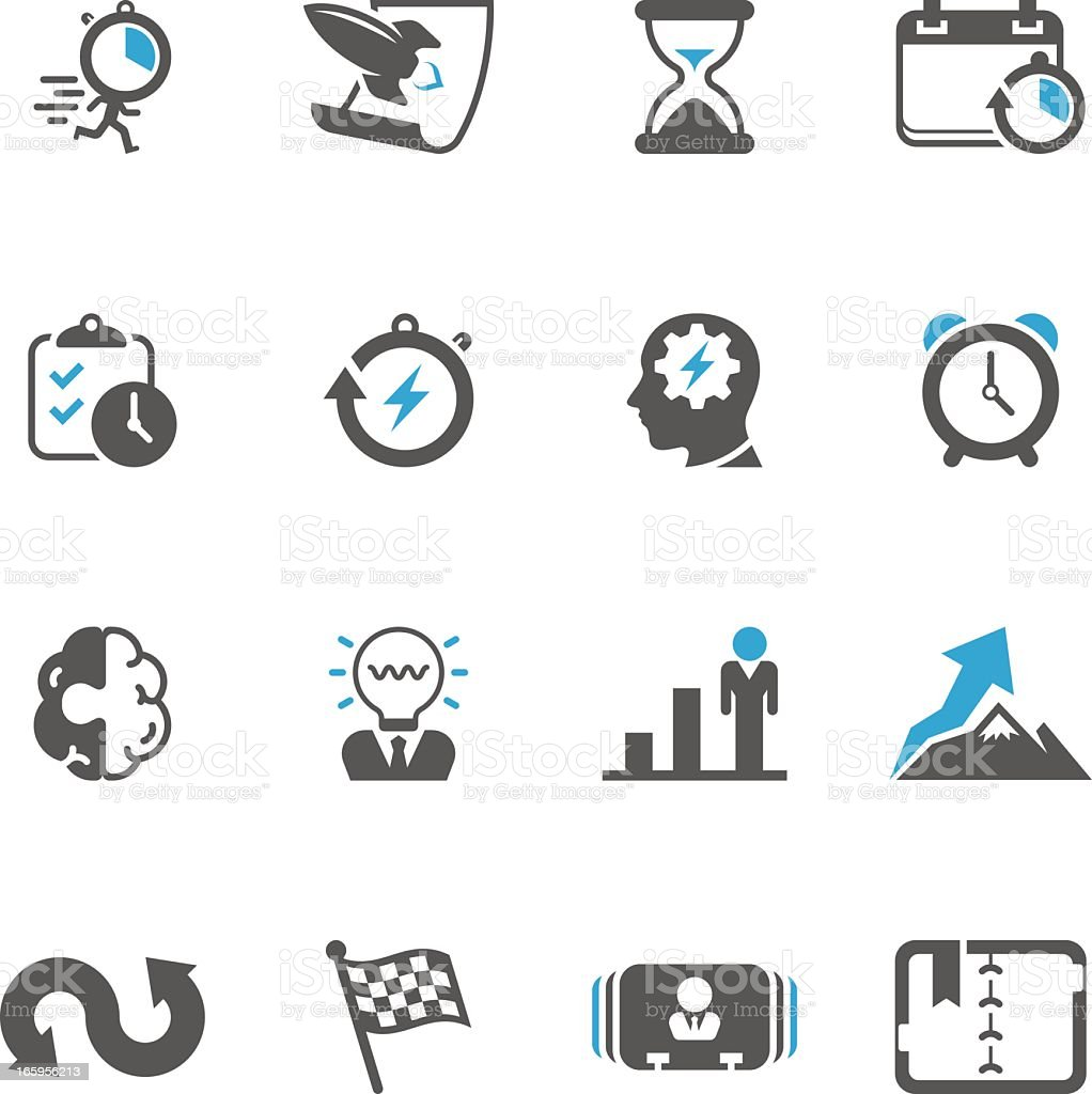 Productive & Efficiency Icon Set | Concise Series vector art illustration