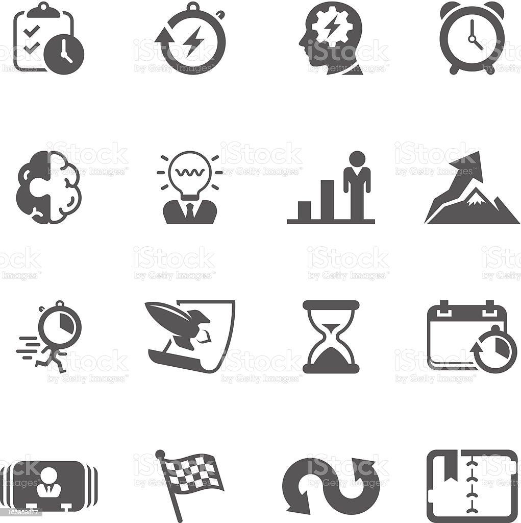 Productive & Efficiency Icon Set | Unique Series vector art illustration