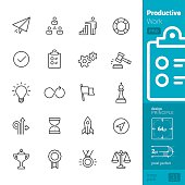 Productivity at Work vector icons - PRO pack