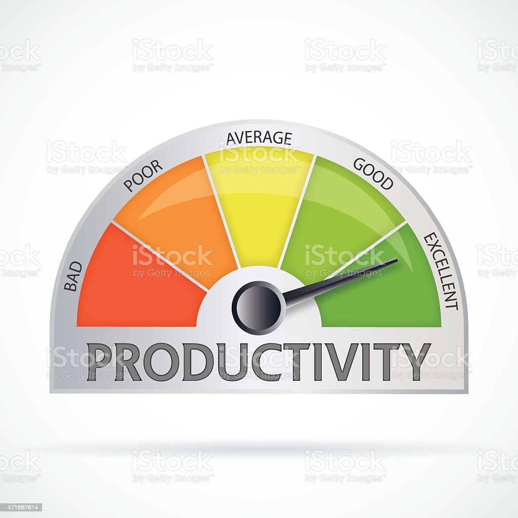 Productivity chart vector art illustration