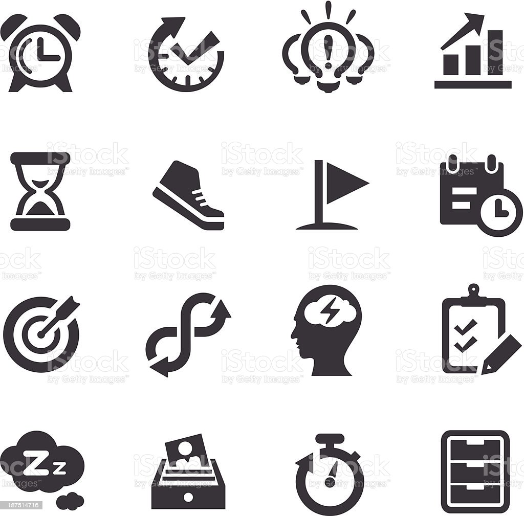 Productivity Icons - Acme Series vector art illustration