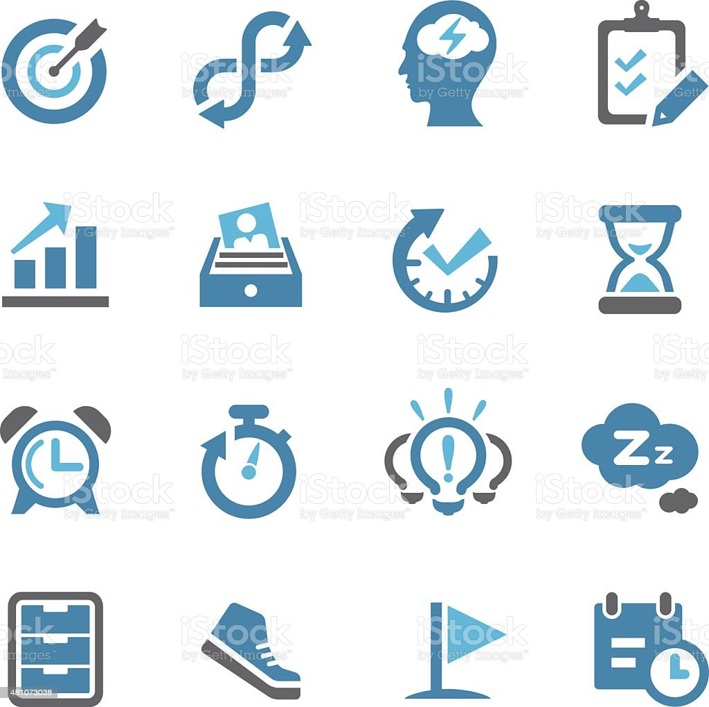 Productivity Icons - Conc Series vector art illustration